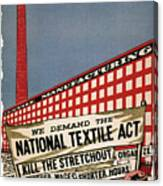 Labor Poster, 1935 Canvas Print