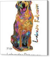 Labrador Retriever Pop Art Canvas Print