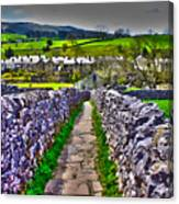 Labyrinth Of Grassington Canvas Print
