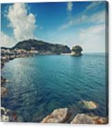 Lacco Ameno Harbour ,  Ischia Island Canvas Print