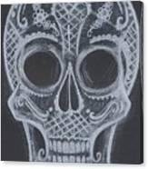 Lace Sugar Skull Canvas Print