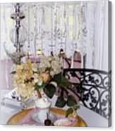 Lacey Curtain And Pastry Canvas Print