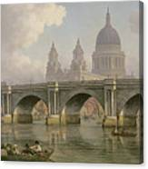 Blackfriars Bridge And St Paul's Cathedral Canvas Print