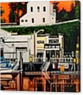 Laconner Waterfront Art Panel Canvas Print
