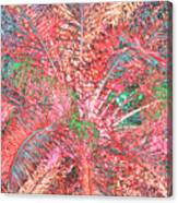 Lacy Pink Palms Canvas Print