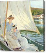 Ladies In A Sailing Boat  Canvas Print