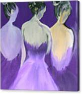 Ladies In Purple Canvas Print