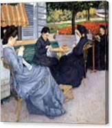 Ladies Sewing Canvas Print