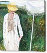 Lady And The Umbrella Canvas Print