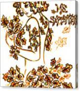 Lady Autumn Canvas Print