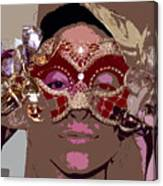 Lady Behind The Mask Canvas Print