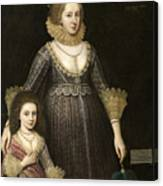 Lady Cavendish Later Countess Canvas Print