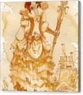 Lady Codex Canvas Print