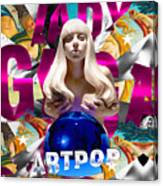 Lady Gaga Graphic Art Canvas Print