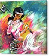 Lady Golf 02 Canvas Print