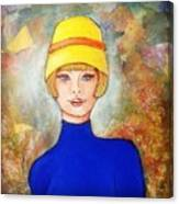 Lady In A Yellow Hat Canvas Print