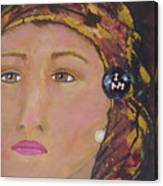 Lady In Head Scarf  Canvas Print