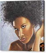 Lady In Leopard Canvas Print