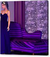 Lady In Lilac Room Canvas Print