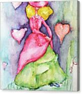 Lady In Love Canvas Print
