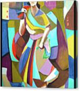 Lady In Mosaic Canvas Print