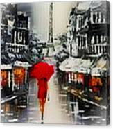Lady In Paris Canvas Print
