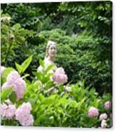 Lady In Salzburg Garden Canvas Print