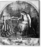 Lady Liberty Mourns During The Civil War Canvas Print
