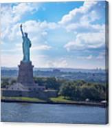 Lady Liberty Ny Harbor Canvas Print