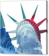 Lady Liberty With French Flag Canvas Print