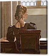Lady Near The Window Canvas Print