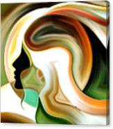 Lady Of Color Canvas Print