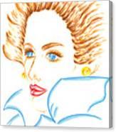 Lady Of The Fall Season Canvas Print