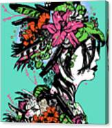 Lady Of The Garden Canvas Print