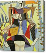 Lady Sitting Canvas Print