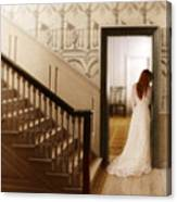Lady Standing In A Doorway Canvas Print