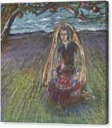Lady Under A Tree Canvas Print