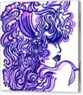 Lady Violet Canvas Print