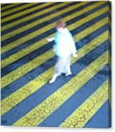 Lady Walking Canvas Print