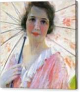 Lady With A Parasol 1921 Canvas Print