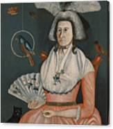Lady With Her Pets. Molly Wales Fobes Canvas Print