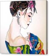 Lady With Kimono Canvas Print