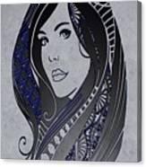 Lady Zen Canvas Print