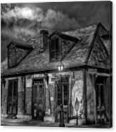 Lafittes Blacksmith Shop Bw Canvas Print