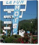 Lafon Motel Canvas Print