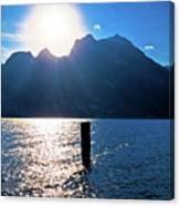 Lago Di Garda At Sunset View Canvas Print