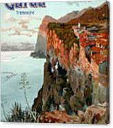 Lago Di Garda Lake Garda Vintage Poster Canvas Print