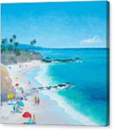 Laguna Beach Umbrellas Canvas Print