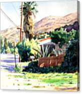 Laguna Canyon Palm Canvas Print