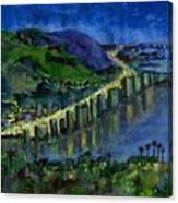 Laguna Shores At Night Canvas Print